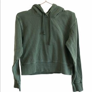 Aritzia Wilfred Free Cropped Hoodie Size X…